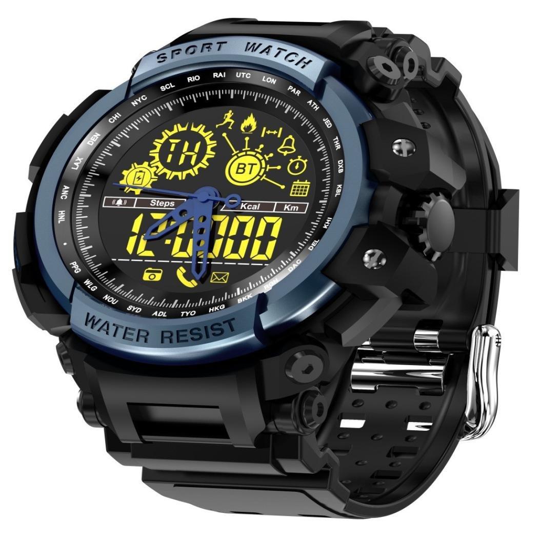 VNEIRW LEMFO LF21 - Reloj inteligente deportivo con cámara remota, 5 ATM, impermeable, con podómetro, monitor de calorías quemadas, pulsera inteligente y ...
