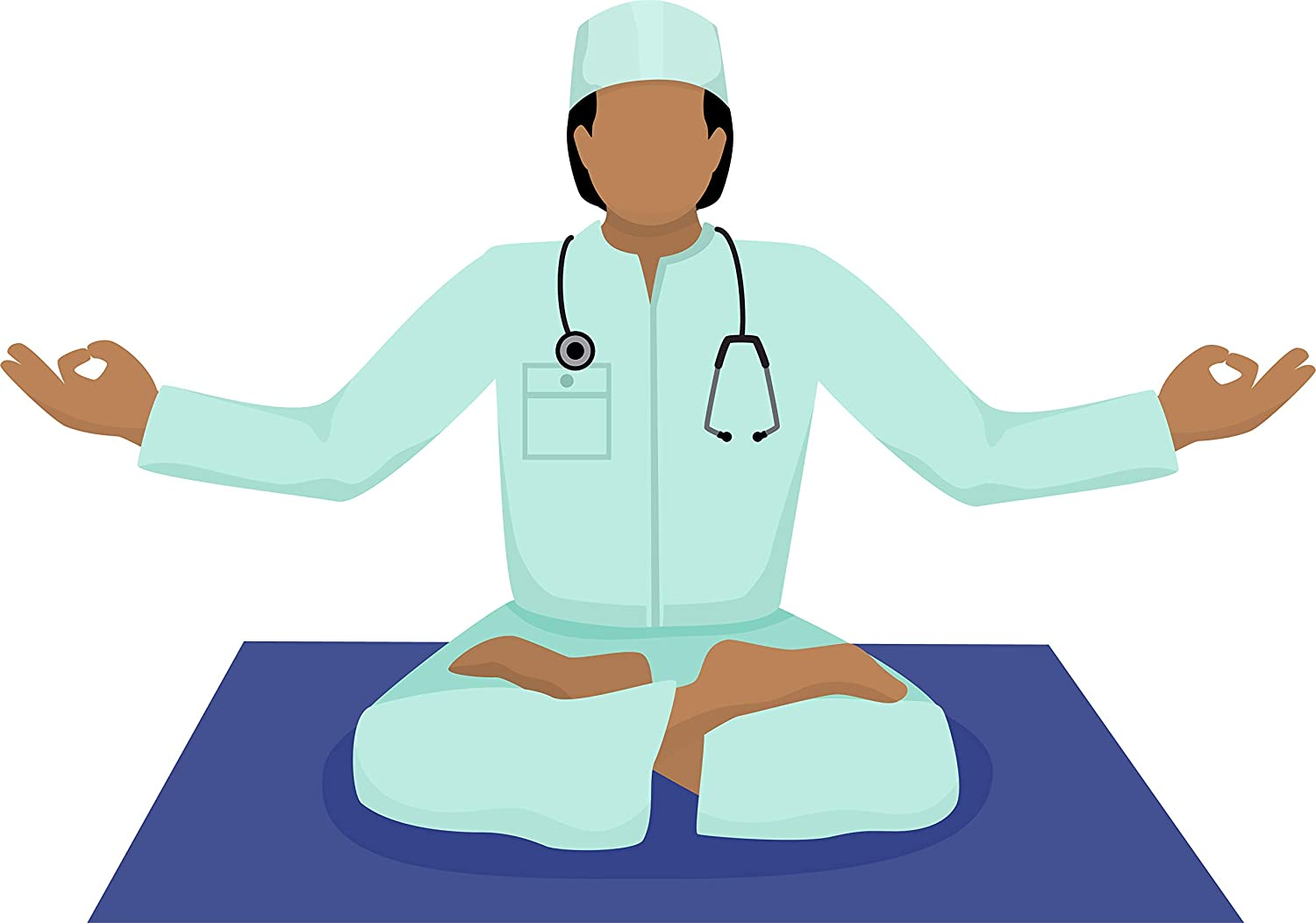Amazon Com Simple Yoga Studio Pose Peaceful Meditation Unwind Cartoon Vinyl Sticker Doctor Automotive