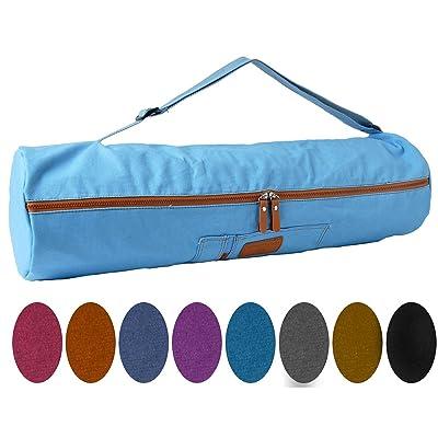 Sac de yoga »Sunita« taille L de #DoYourYoga / Idéal pour les matelas de yoga et de gymnastiqueen / Sac en toile 100% coton de haute qualité (toile à voile) solide élégant resist