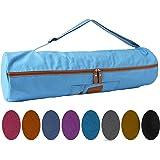 Yogatasche »Sunita« von #DoYourYoga aus hochwertigem Canvas (Segeltuch) / aufwendig verarbeitet /die Tasche ist für Yogamatten bis zu einer Größe von 186 x 61 x 0,6 cm / Der Yogabag ( Yogatragetasche) hat ein zusätzliches Staufach für Handy, Geldbörse & Co - ideal für den Besuch im Yogastudio , erhätlich in 9x farbenfrohen Farbvarianten
