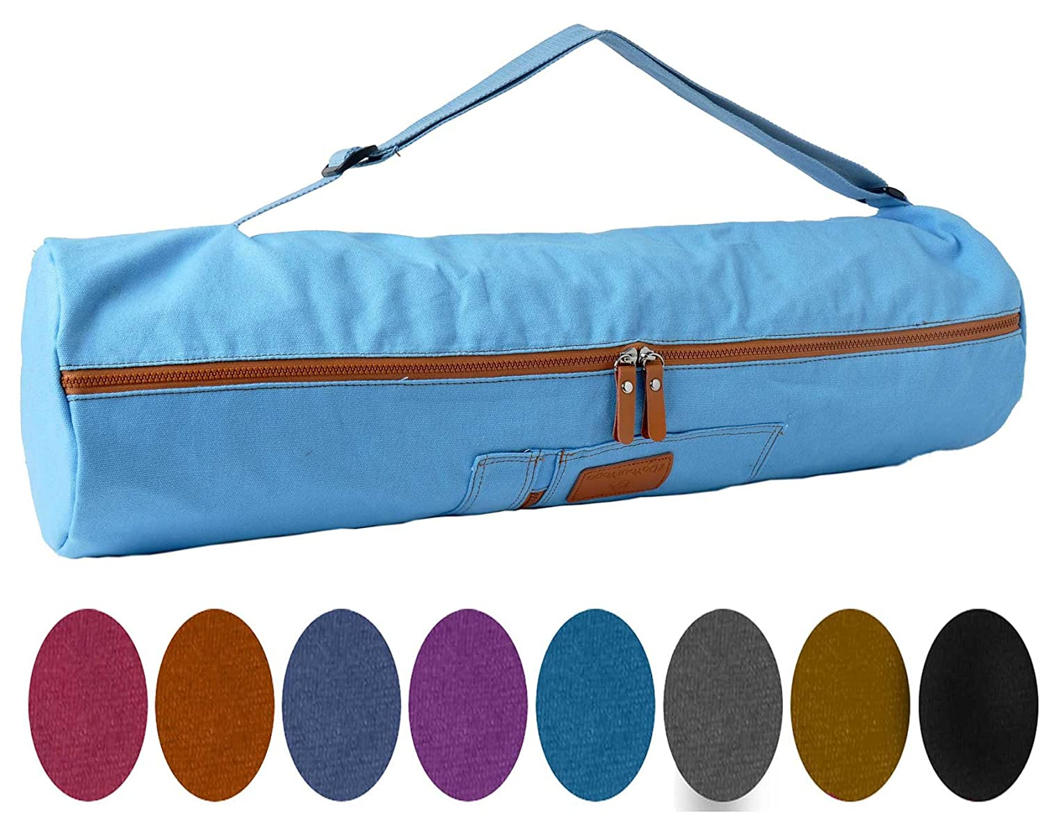 #DoYourYoga Yoga mat bag »Sunita« from 100% cotton - Multi-Functional Storage Pocket - For yoga mats up to a size of 180 x 60 x 0.3 cm - available in 9 beautiful colours. #DoYourSports