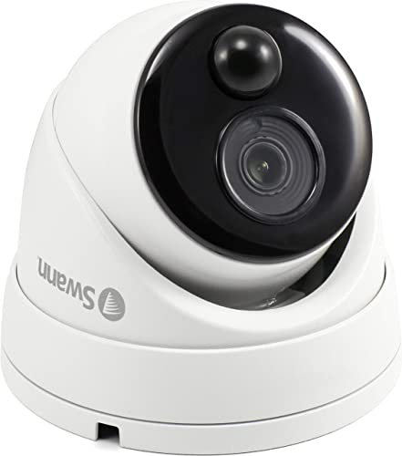 Swann Home Security Dome Camera, Wired Surveillance 1080P DVR, Weatherproof with Heat Motion Sensor Night Vision