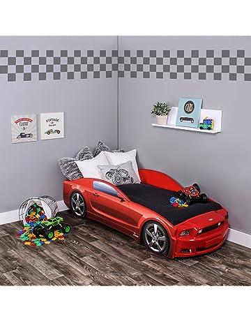 Kagu - Cama infantil/cama juvenil con diseño de un verdadero coche, también disponible