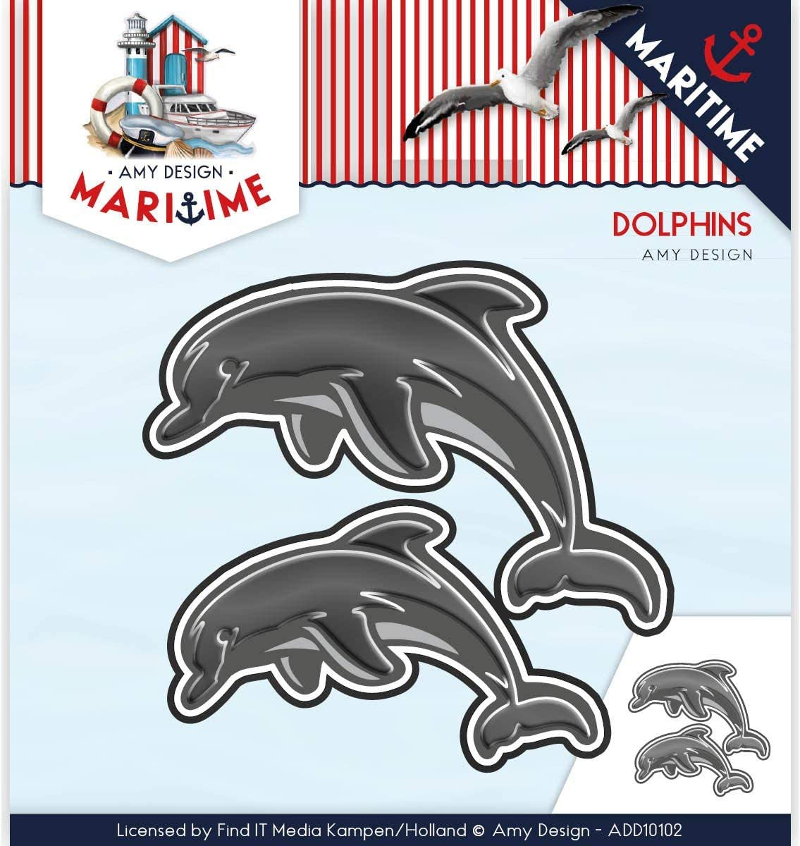 Find It Trading Amy Design Maritime Dolphins ADD10102