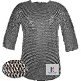 Medieval Hauberk Armour Chainmail Shirt 10 mm Round