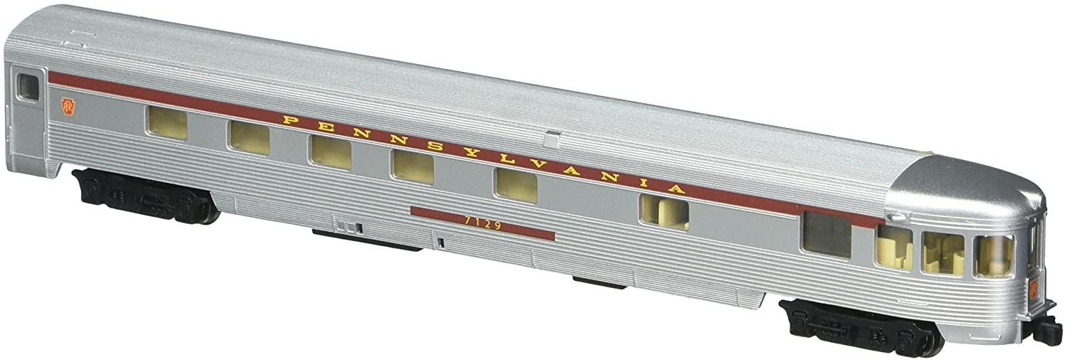 Bachmann Industries Streamline Fluted Observation Car with Lighted Interior - PRR (N Scale), 85' 85' Bachmann Industries Inc. 14552