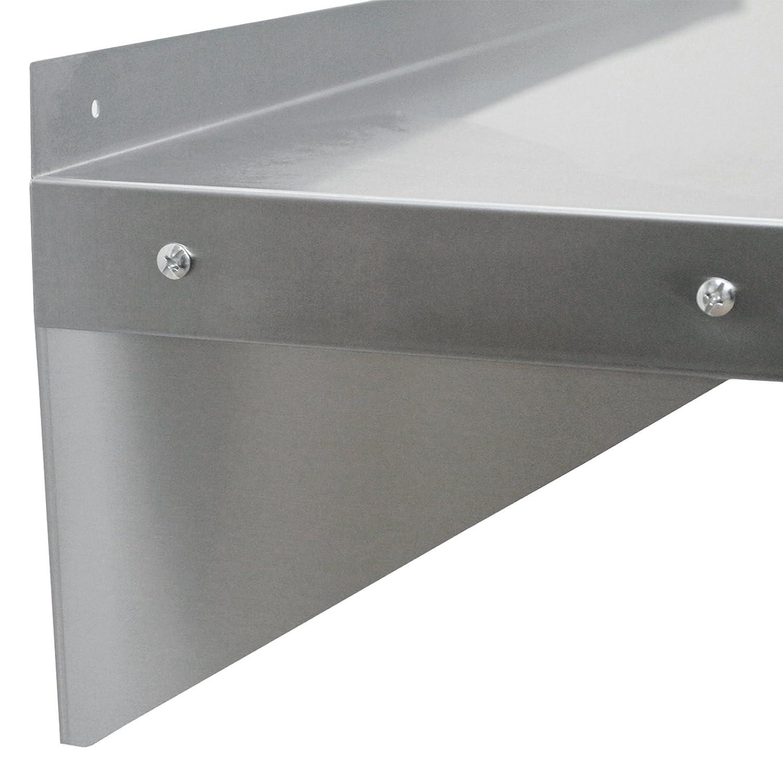 KuKoo Gastro-Regal Wandregal K/üchenregal Regal Gew/ürzregal Wandbord 1250mm x 300mm mit Gratis 2 x Mikrofasertuch