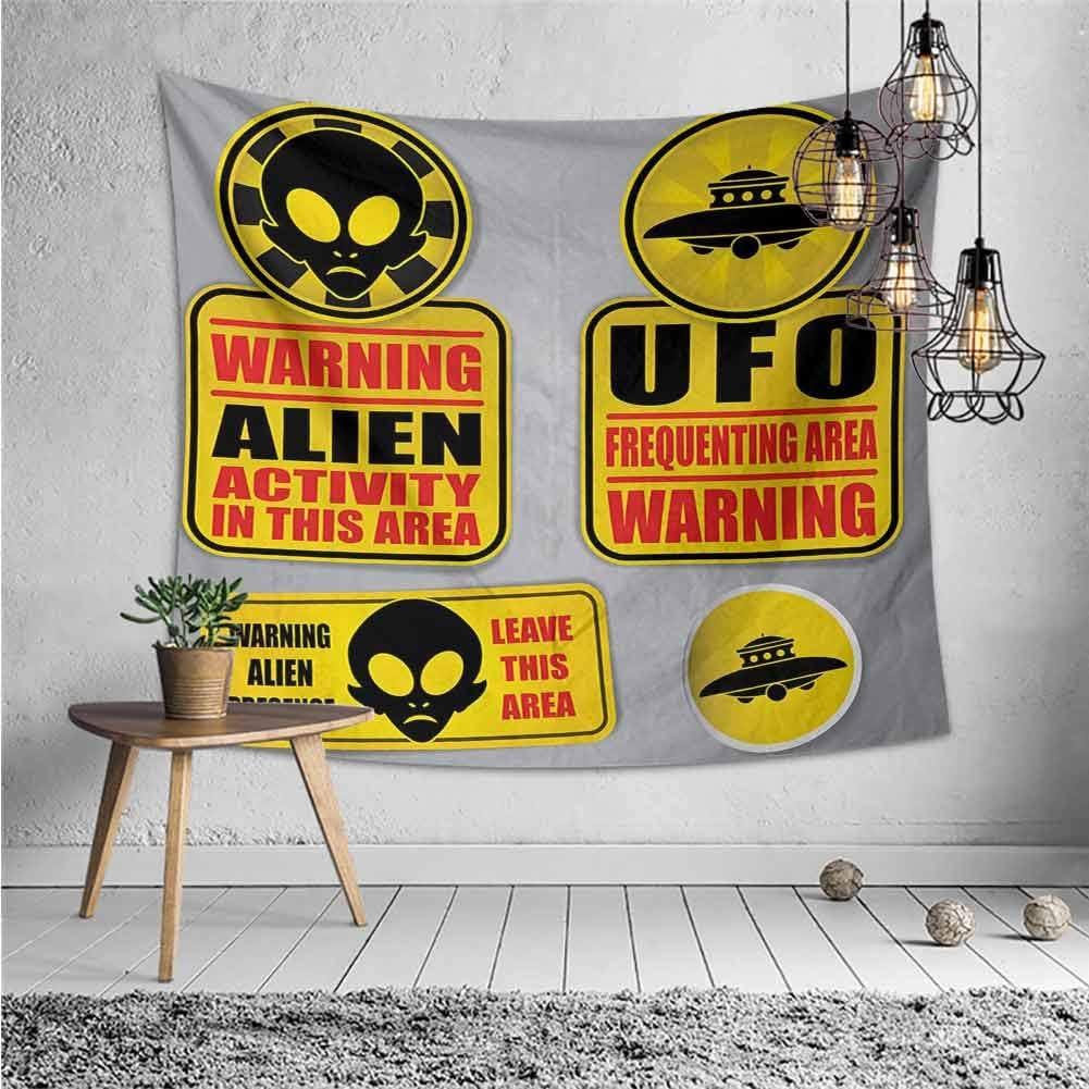 Alien Tapestry Fantastic Martian Design Print Wall Hanging Decor