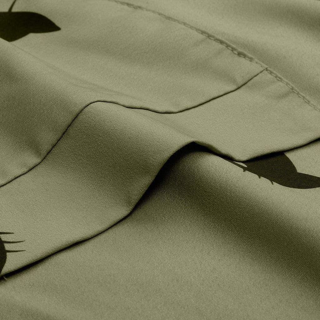 ReoolyღPlus Size V-Neck Femmes Cat Imprimer Robes de Poche Quotidien imprim/é Robes Maj