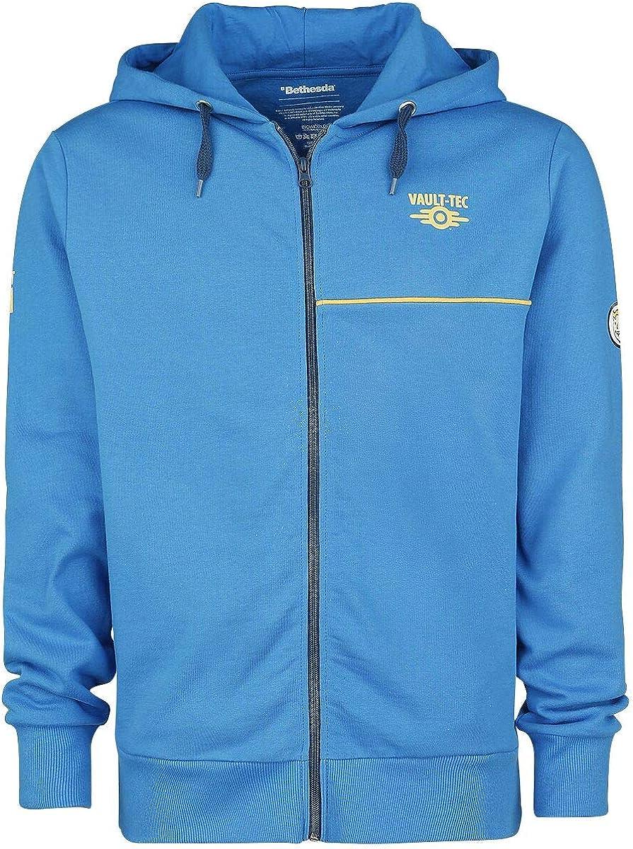 TALLA L. Fallout Boy chaqueta con capucha Bóveda Tec 111 de algodón azul juego