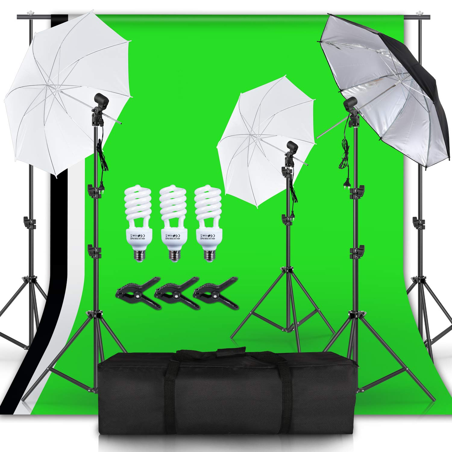 Photography Soft Light Umbrella Professional Photography Studio 5500K Daylight Continuous Lighting Photography Light Kit for Still Life Portrait Video Photography