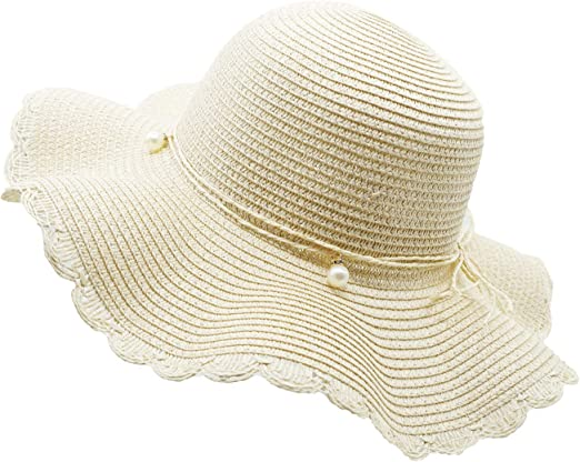 Women Girls Lovely Boho Foldable Travel Sun Beach Straw Hats Wide Brim Summer Cap