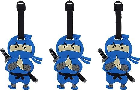 Amazon.com | Blue Ninja Suitcase Luggage Tag, 4 Inch, Set of ...