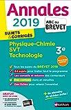 Annales ABC du Brevet 2019 - Physique-Chimie/SVT/Techno