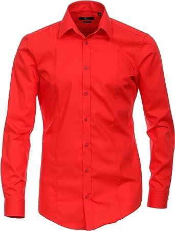 Venti - Camisa formal - para hombre Rojo Media Roja: Amazon ...