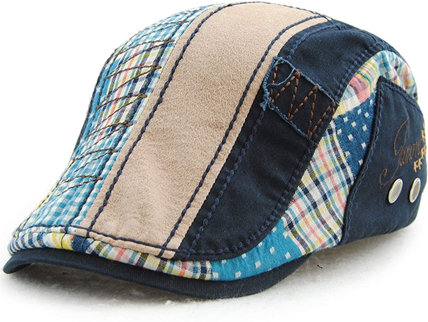 CHENTAI Unisex Casual Patchwork Rushed New Adult Cotton Casquette Boinas Leisure Mens Beret Hats for Cap