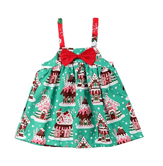 b7c49e465 Amazon.com  Lily.Pie Baby Girl Christmas Dress House Print ...