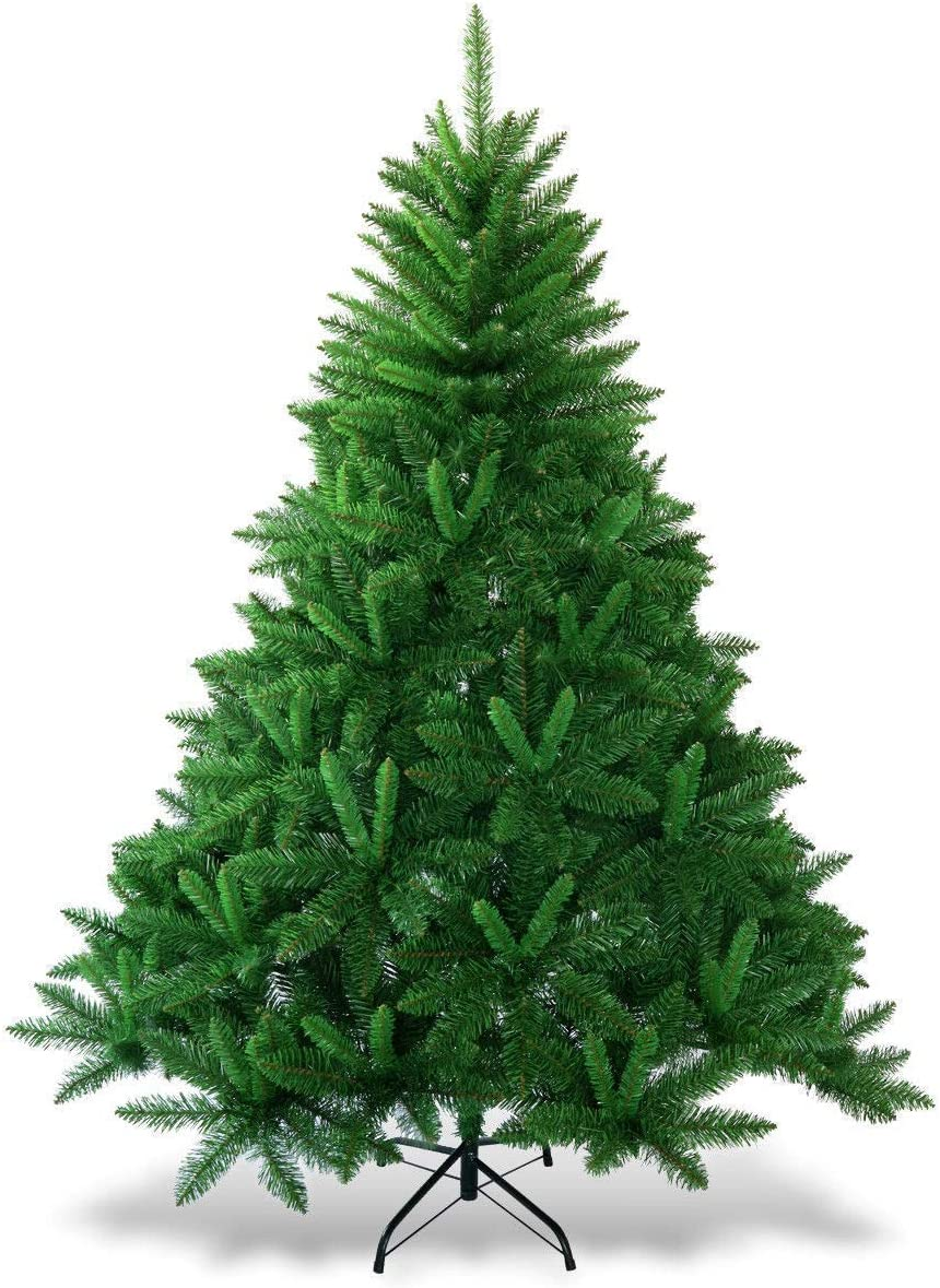 Large 6 ft Goplus Christmas Tree Artificial Premium Hinged Spruce Full Tree with Solid Metal Stand