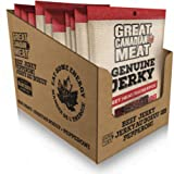 Box of Sweet Heat Beef Jerky 10 x 68g Bag Bundle by Great Canadian Meat, Meat Snacks, Bulk Beef Jerky Box for Carnivores. Per