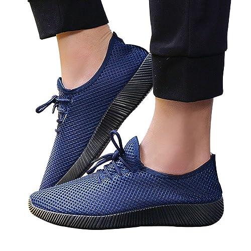 Zapatillas Hombres de Deporte Casual Malla Zapatos Zapatos de Gimnasia para Caminar de Peso Ligero: Amazon.es: Zapatos y complementos