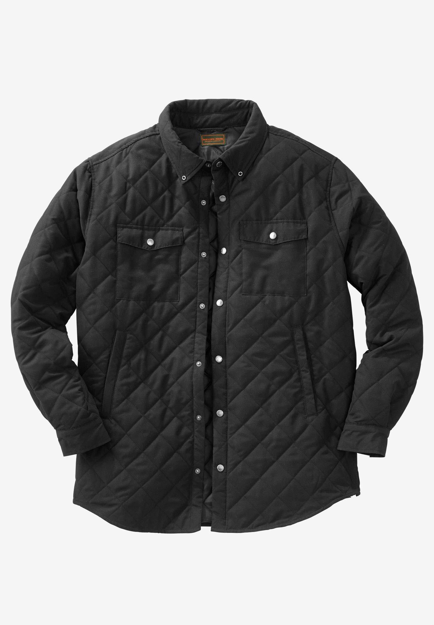 Boulder Creek by Kingsize Men's Big & Tall Quilted Shirt Jacket