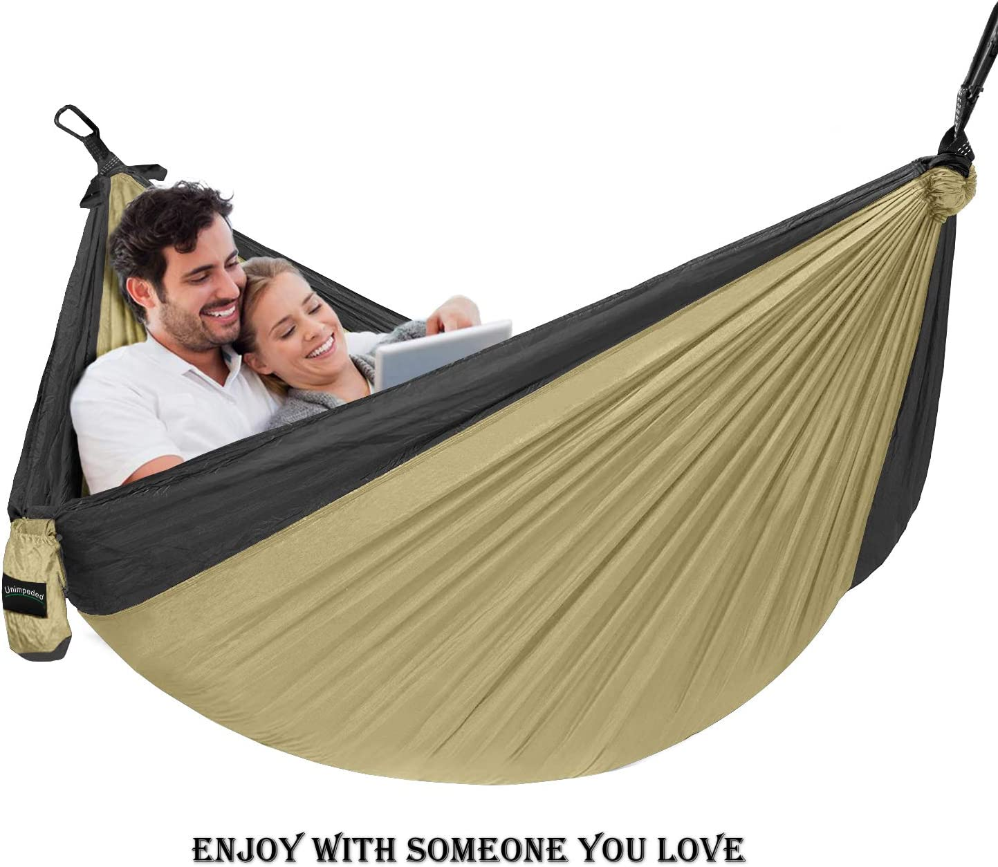 Backpacking,Camp Lightweight Nylon Parachute Hammock Many Accessories Travel Unimpeded Camping Hammock Multi-Functional Single/&Double Portable Hammock Heavy Duty Straps/&Carabiners
