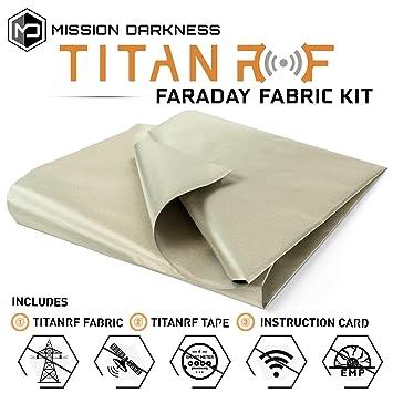 TitanRF Faraday Fabric. emi Shielding, RFID Shielding, Cell ...