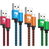 Micro USB Cable Aioneus Fast Android Cord Charger Cable 4Pack [2FT, 3FT, 5FT, 6FT] Cable Charging Cord Compatible with…