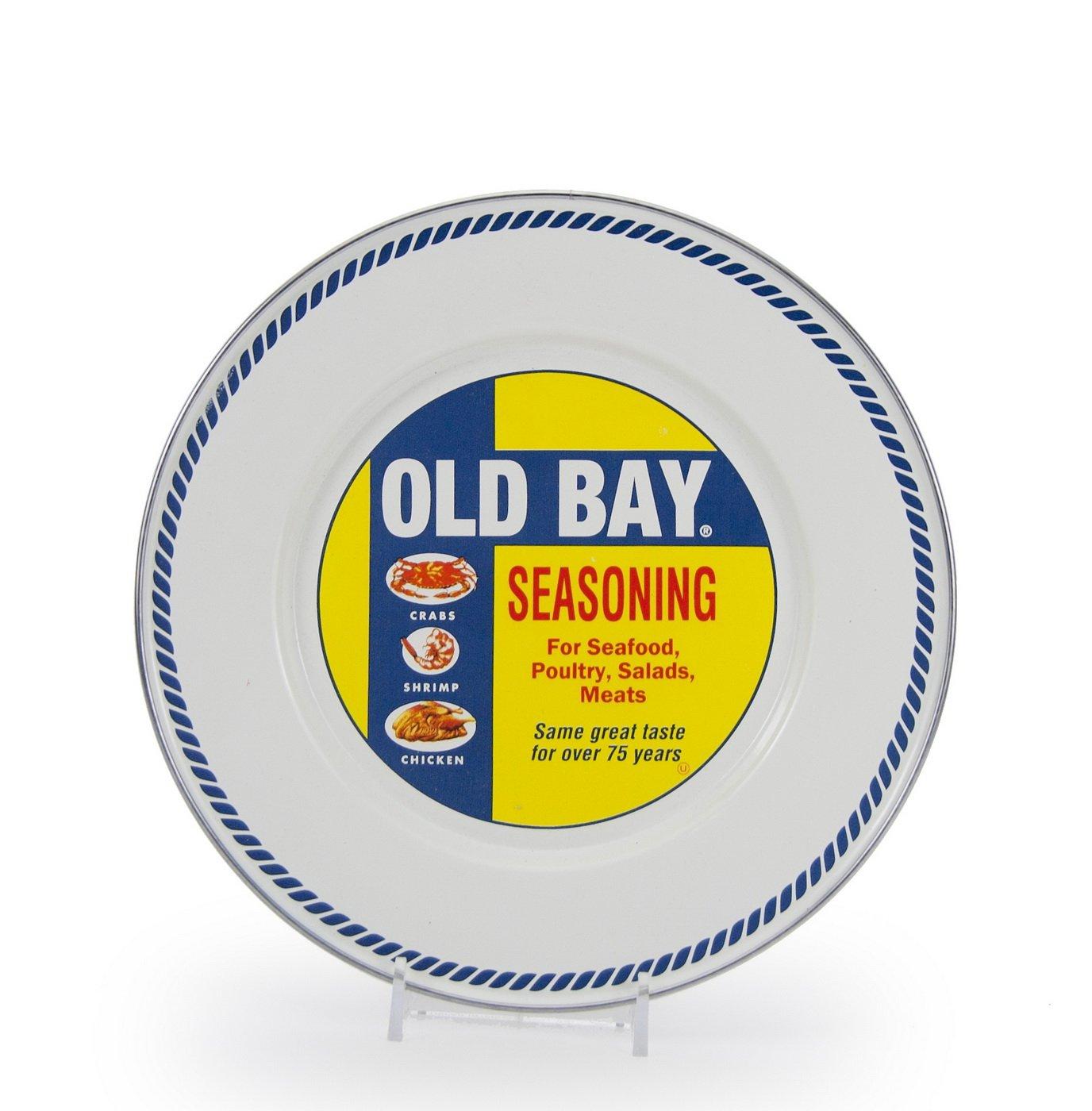 Sea Glass Teal Swirl Pattern 8.5 Inch Sandwich Plate Enamelware
