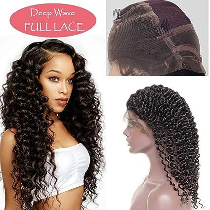 Pelucas Naturales Lace Front Wig Mujer Pelo Natural Cabello Humano con Pelo de Bebé 100%