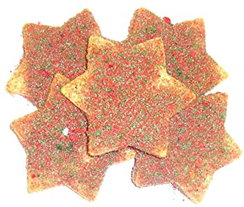 Scott S Cakes Red And Green Christmas Star Cookies 3 Lb Box