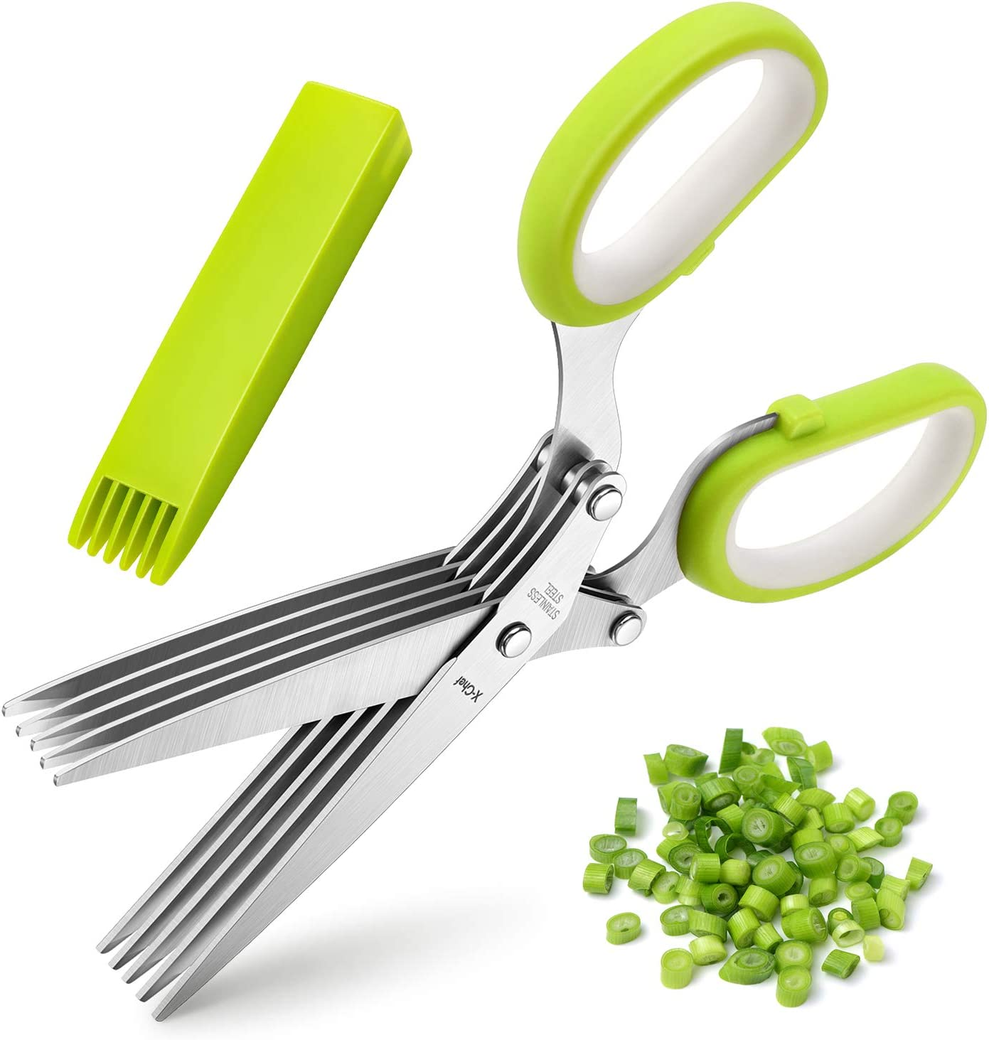 5-Blade Herb Scissors with Cleaning Cover