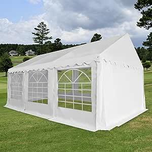 XINGLIEU Carpa de jardín Marquesina PVC 3x6m Blanco Pérgola Toldo Material: Tela (500 g/m2) y Acero galvanizado: Amazon.es: Jardín