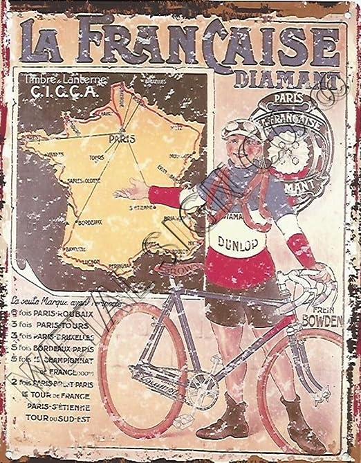 8 x 10in la francaise Diamant francés anuncio de ciclo bicicleta ...