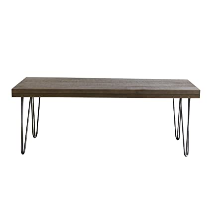 9b90bc5a201f8 Amazon.com  ArtMaison.ca Coffee Table with Real Canadian Pine Top and  Hairpin Style Metal Legs