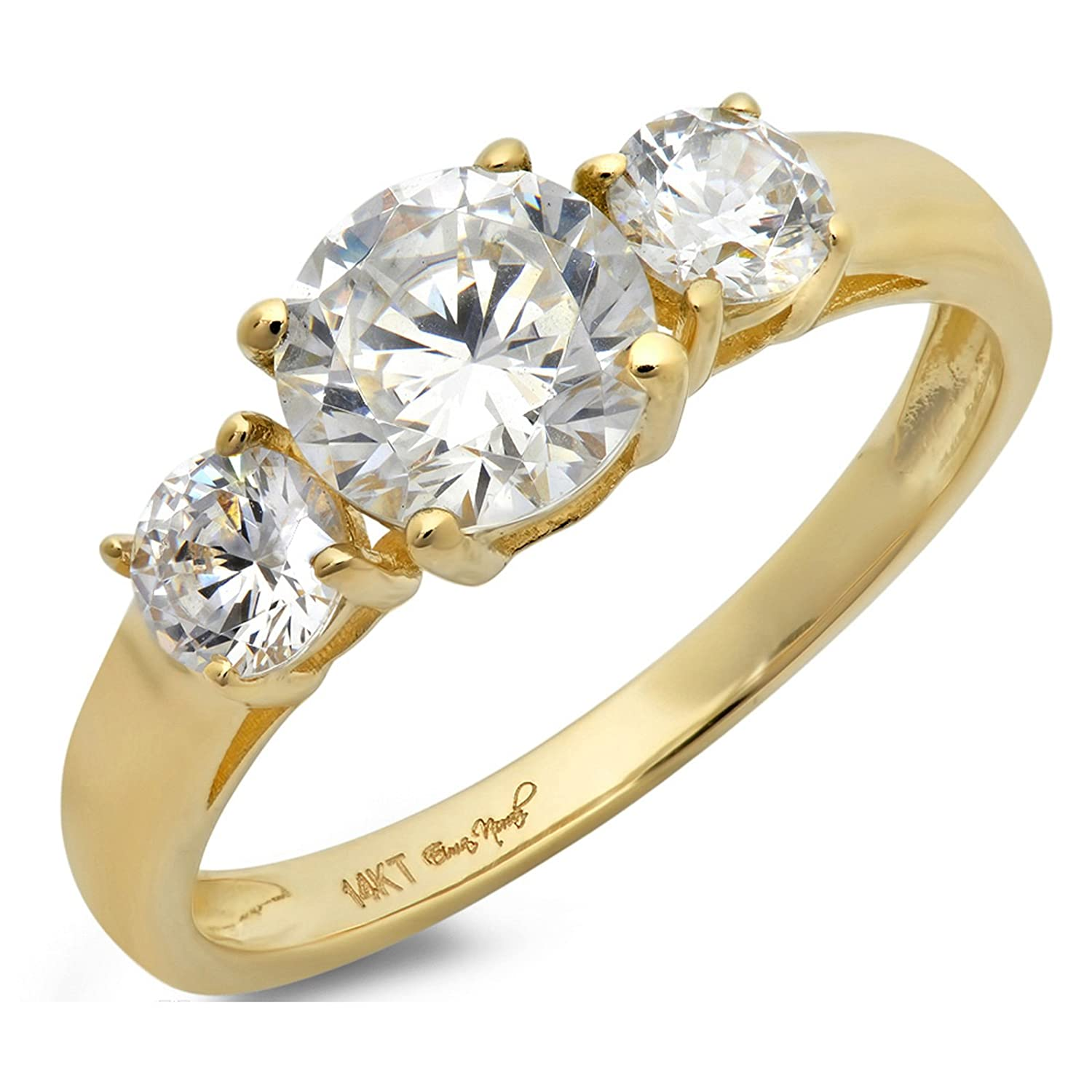 engagement alloy product gold white style plated simple rings copper ring zircon
