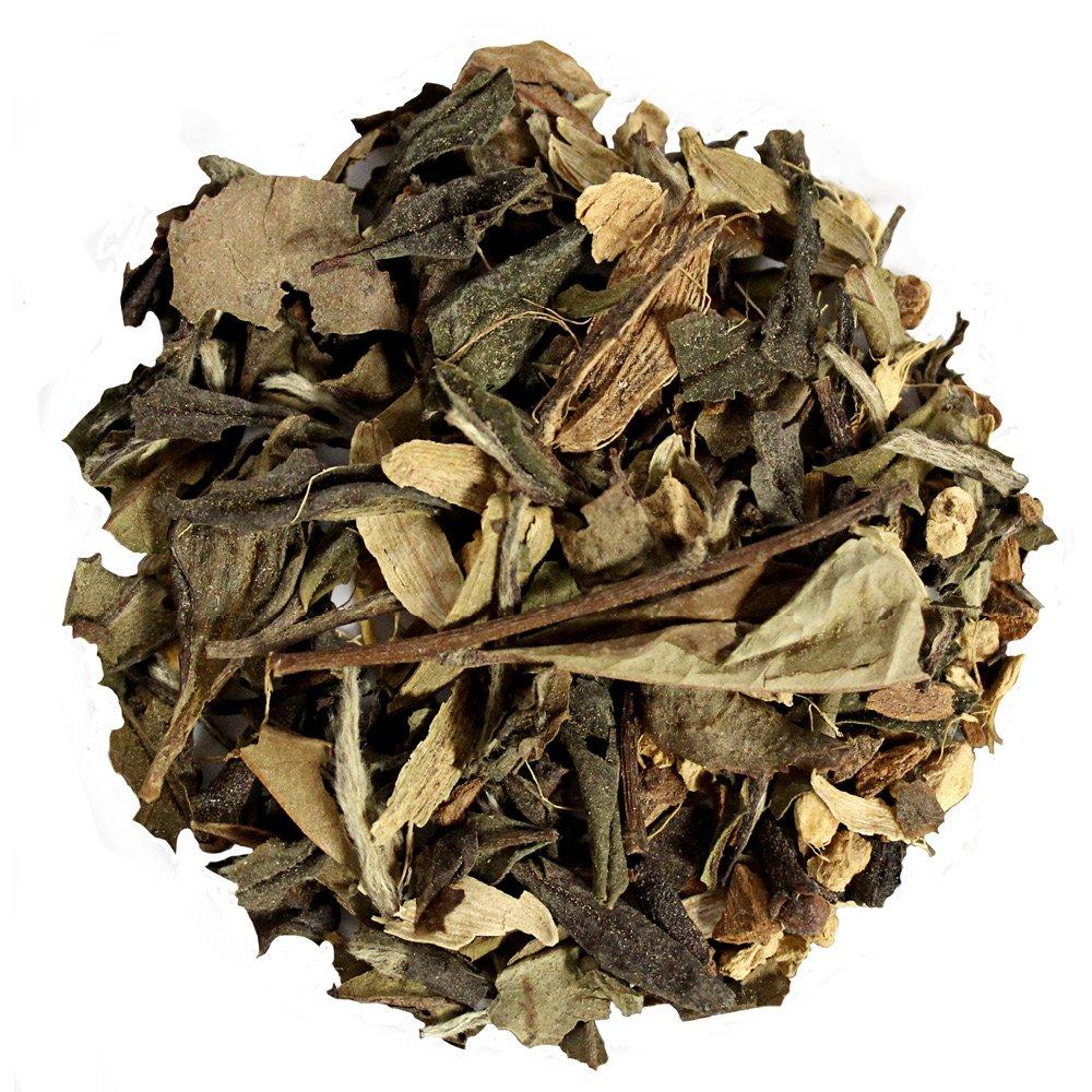 Capital Teas Organic Premium White Chai Tea Low Caffeine Helps Lower Cholesterol, 16 Ounce