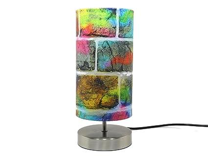 Graffiti Lampe Lumière Abat Jour Lampe De Bureau Table De Chevet Garçons  Filles Pour Enfants Chambre ...