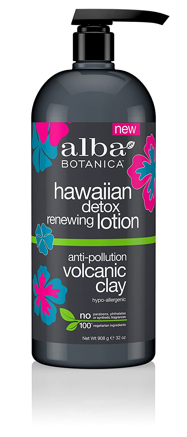 Alba Botanica Anti-Pollution Volcanic Clay Hawaiian Detox Renewing Lotion, 32 oz. (Pack of 6) Live Clean) - Edison NJ