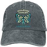 Sports Denim Cap Ovarian Cancer Awareness Women Golf Hats Washed Denim Cap a07e5c79c833