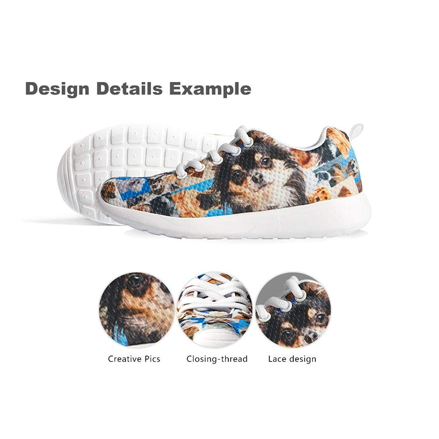 Owaheson Boys Girls Casual Lace-up Sneakers Running Shoes Xmas Snowmans Guitar Playing Squirrel Blessing
