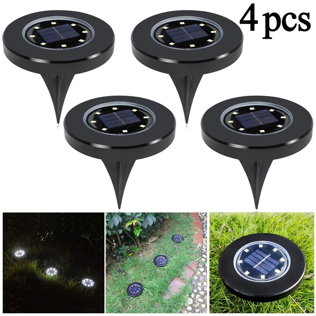 Fansport Disc Light Waterproof 8 LEDs Ground Light Outdoor In-ground Light for Garden