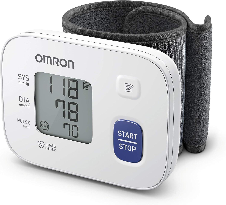 OMRON RS1 - Tensiómetro de muñeca para uso doméstico o externo, color blanco