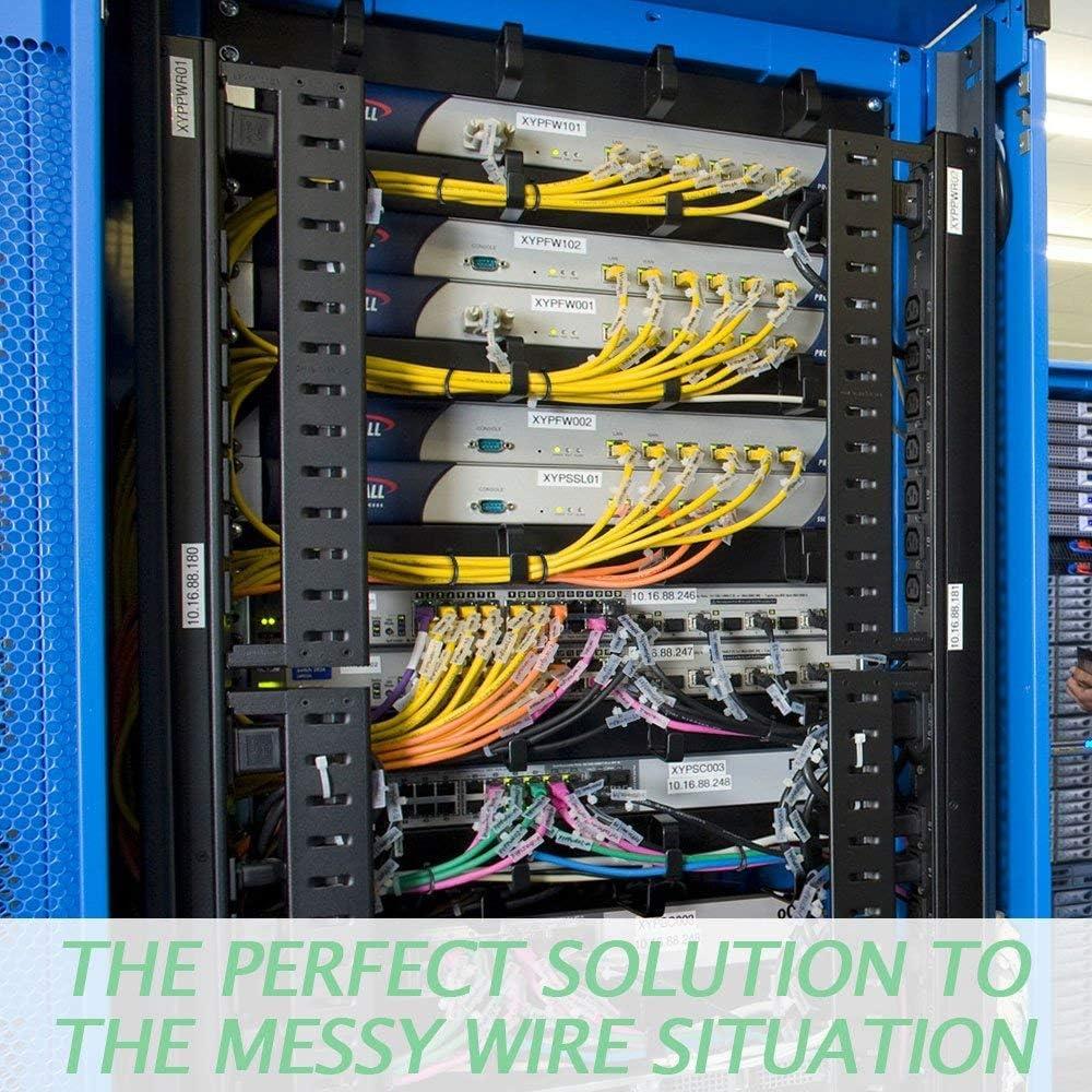TOOHUI 400 pi/èces Attaches de C/âble 4 sp/écifications-80//120//150//200mm Autobloquant Liens Noir Nylon Zip Cable Ties La Chaleur et R/ésistant Aaux UV Plastique Wire Ties