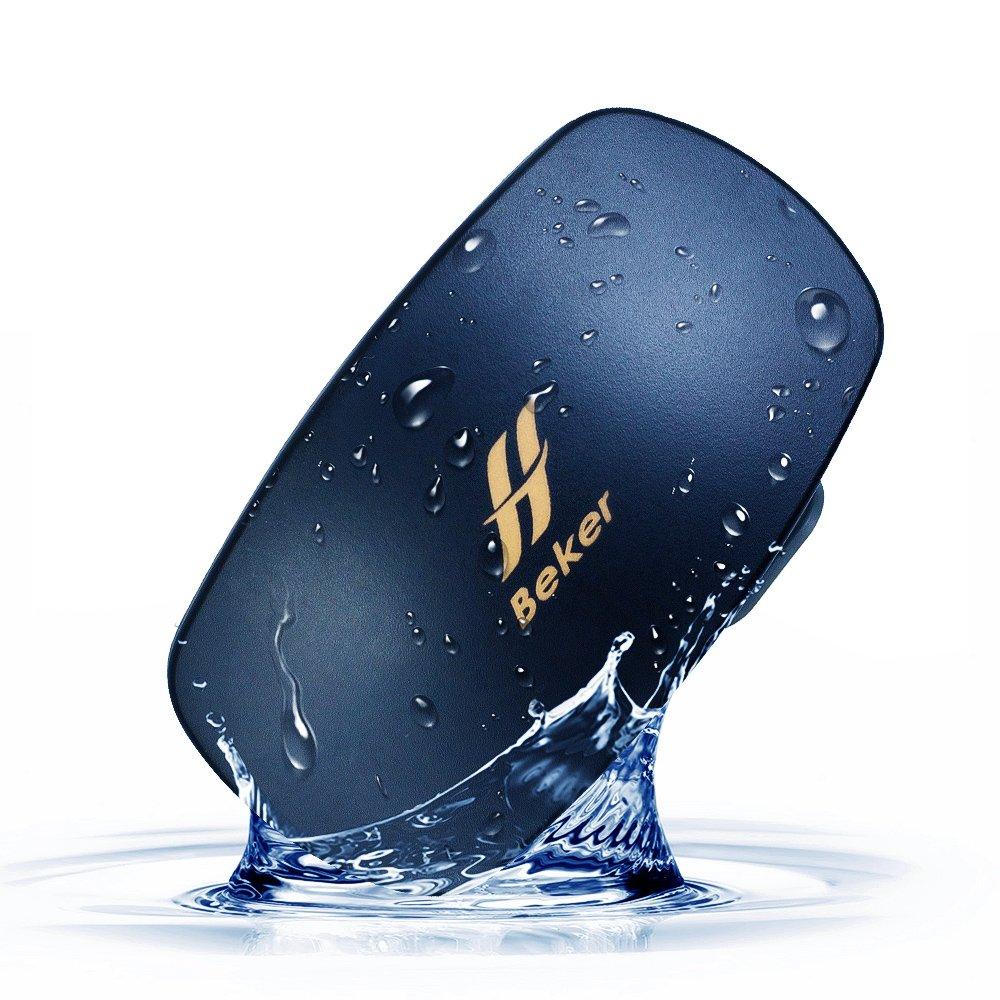 BEKER Underwater Smart Wear MP3 Player for Swimming | Open-Ear Bone Conduction Waterproof Audio Mini Speaker | No Headphones Needed (Black)