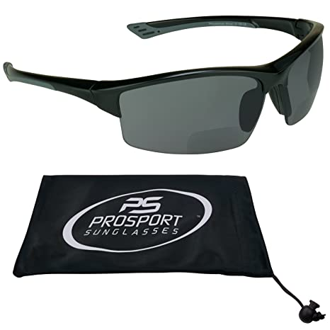 ec8d188607d Amazon.com  Premium Polarized Bifocal Sunglasses 2.00 with TR90 Half Frame  and Polycarbonate Lenses for Men for Women- Free Microfiber Cleaning Case
