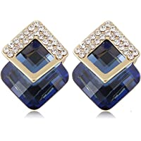 Shining Diva Fashion 18K Gold Plated Crystal Stud Earrings For Women & Girls