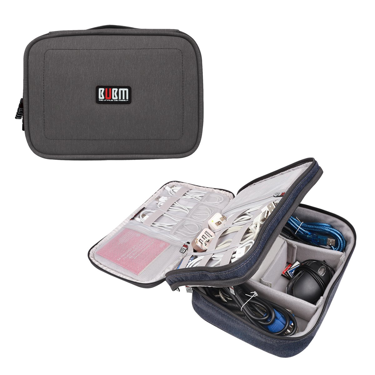 Universal Electronics Accessories Travel Organizer Cable Bag Blue Small BUBM