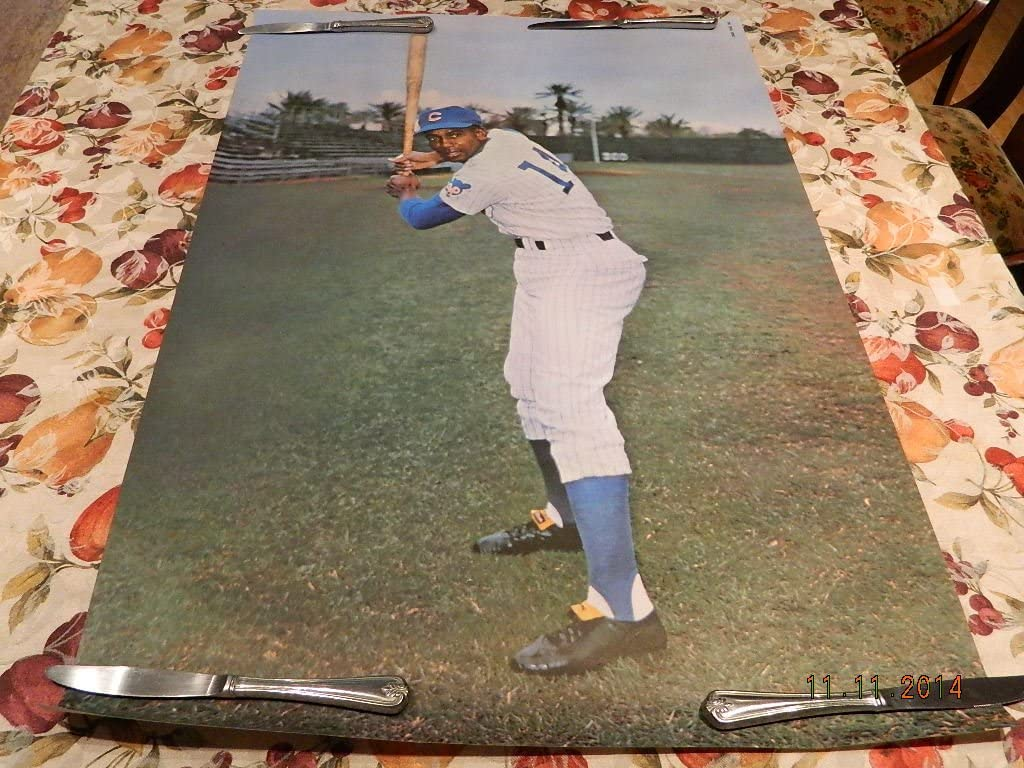 Ernie Banks 1968-71 Sports Illustrated Poster Chicago Cubs Nr Mint! Nice!