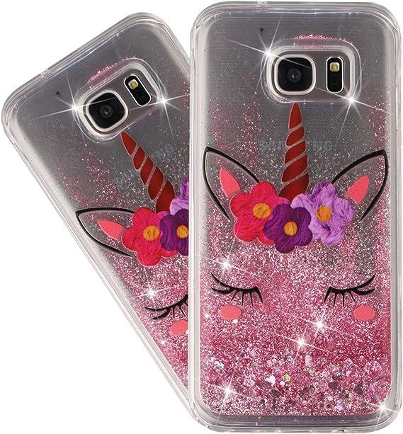 Samsung Galaxy S7 Unicorn Glitter Case